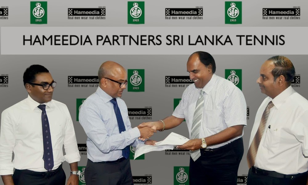 The official agreement with Hameedia and Sri Lanka Tennis