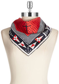 Lauren Ralph Lauren Renee Nautical Square Scarf