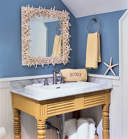 Ez decorating know how bathroom designs the nautical for Beach inspired bathroom designs