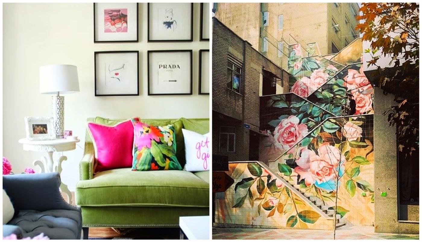 sofá verde @decorismoblog e escadaria externa @casadevalentina