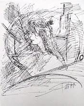 """ritratto di """"_g"""" a penna a sfera"""