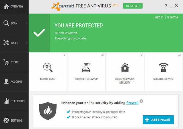 Download Avast! Free Antivirus 10.2.2218 (Antivirus Gratis Terbaik)New Version 2015 Secara Full Free