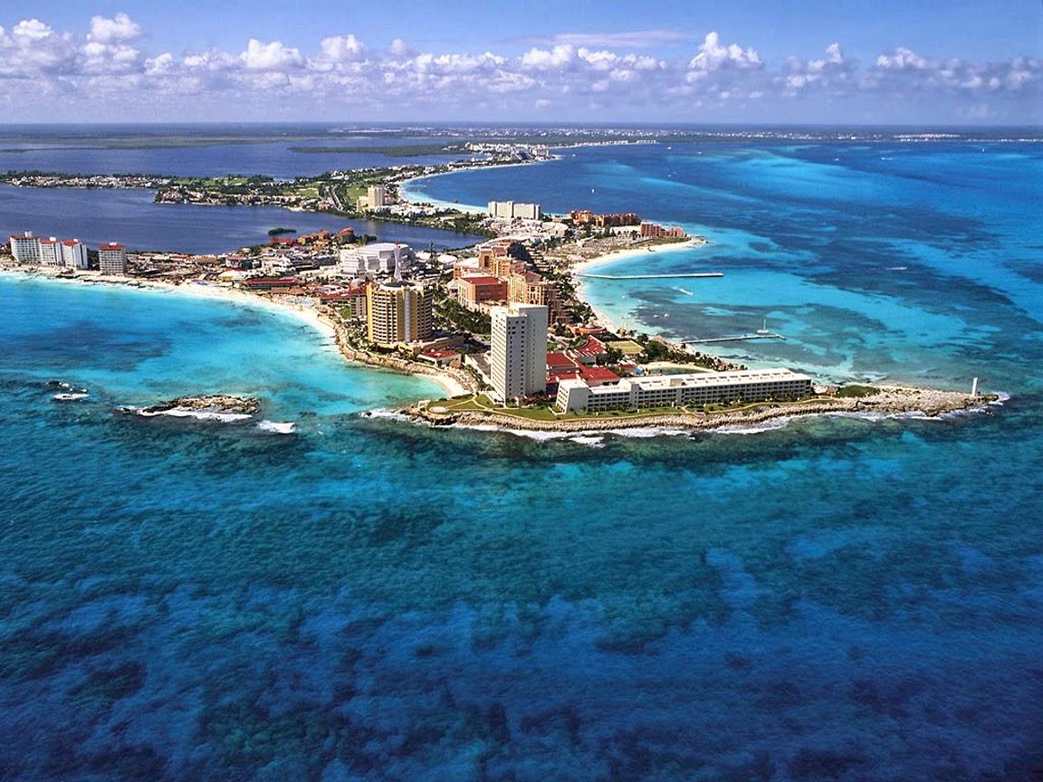 Ciudad de Cancún en la Riviera Maya, México