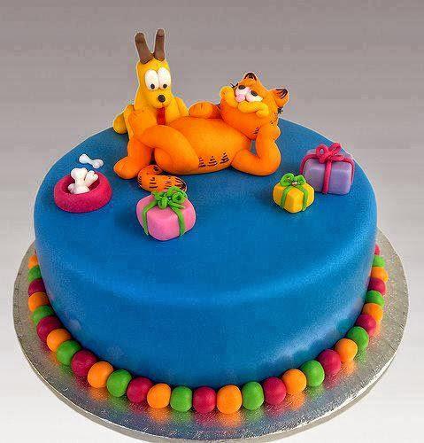 Birthday Cake garfield and odie