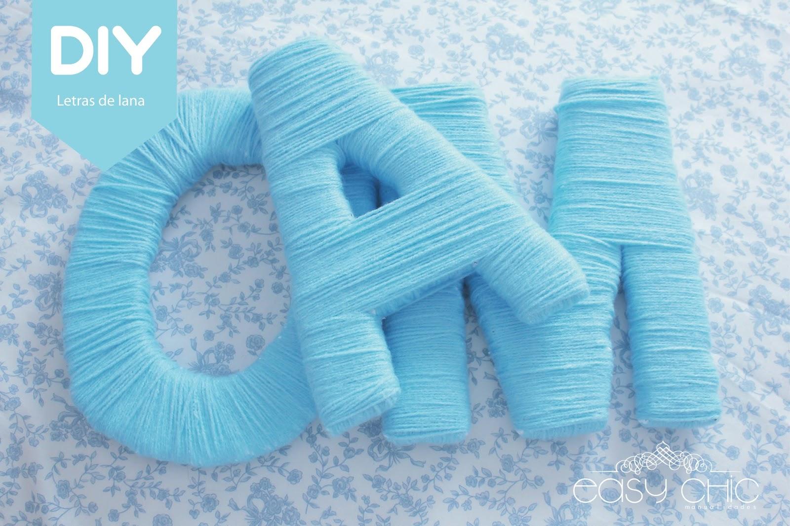 Letras de poliespan con lana