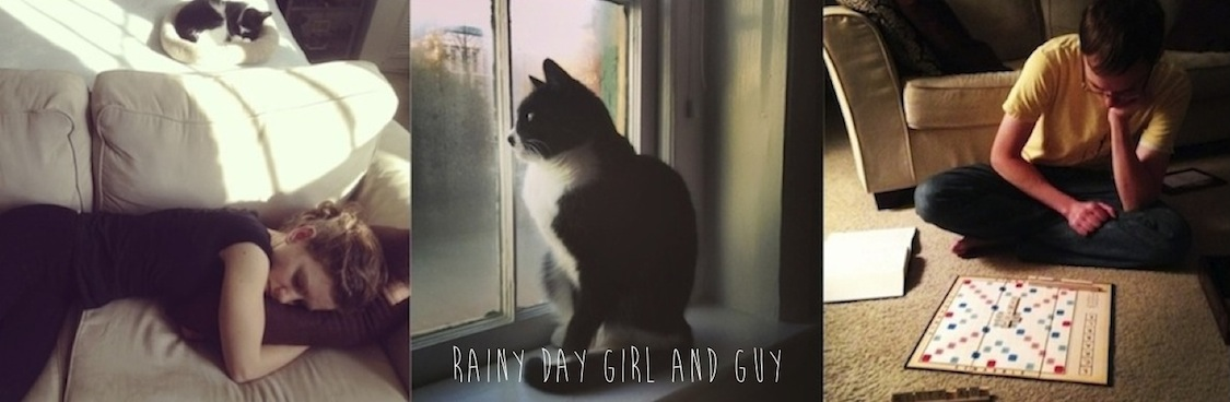 rainy day girl and guy