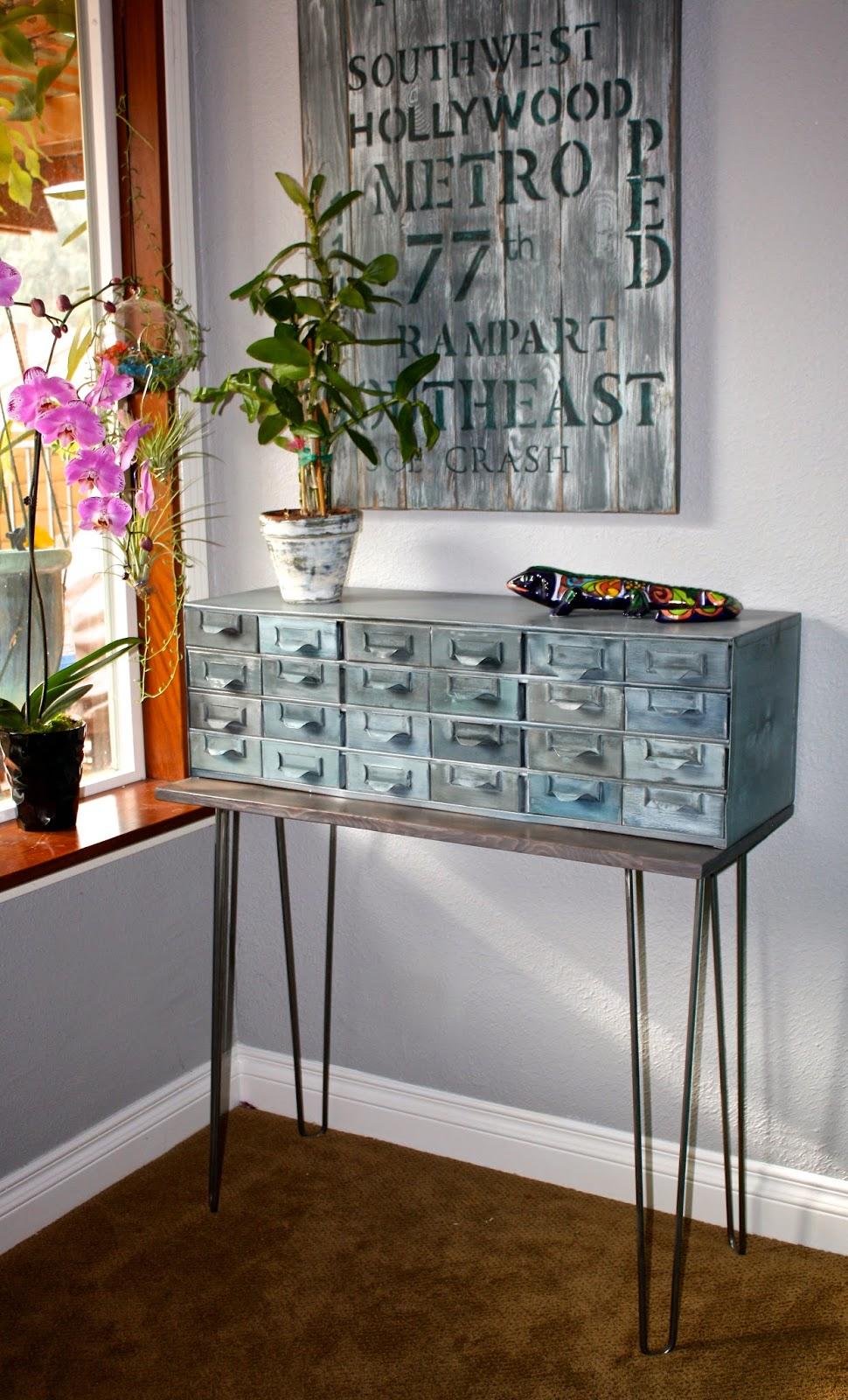 MakeMePrettyAgain: Vintage Metal Catalog Cabinet
