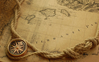 Compass Rope Map HD Wallpaper