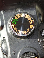 Command and mode dial on camera