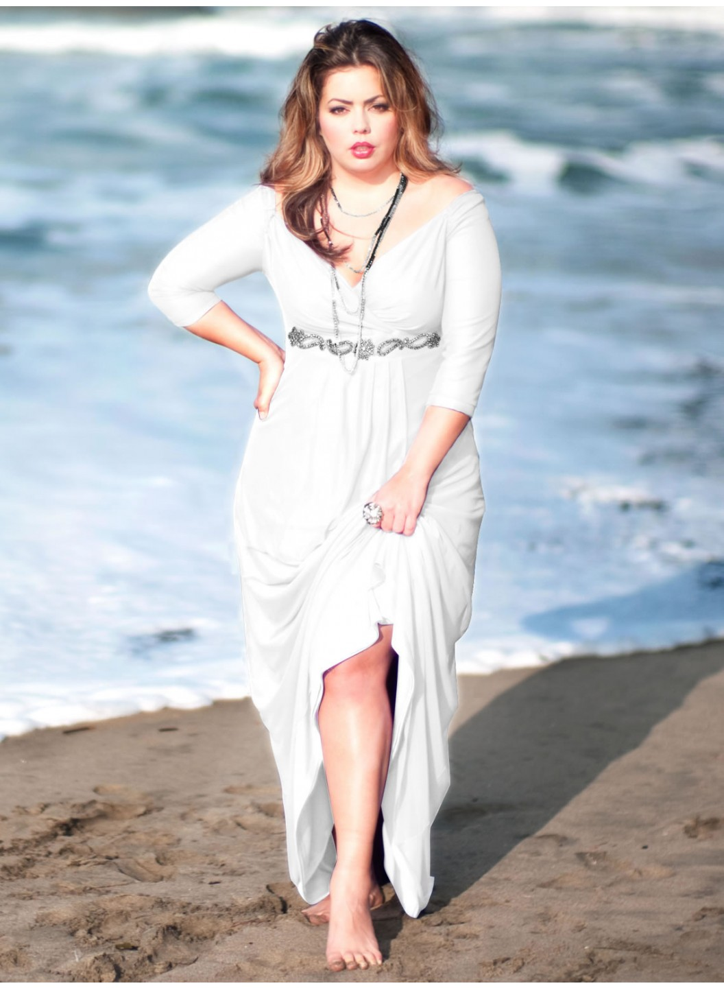 Afternoon Formal Wedding Attire Plus Size