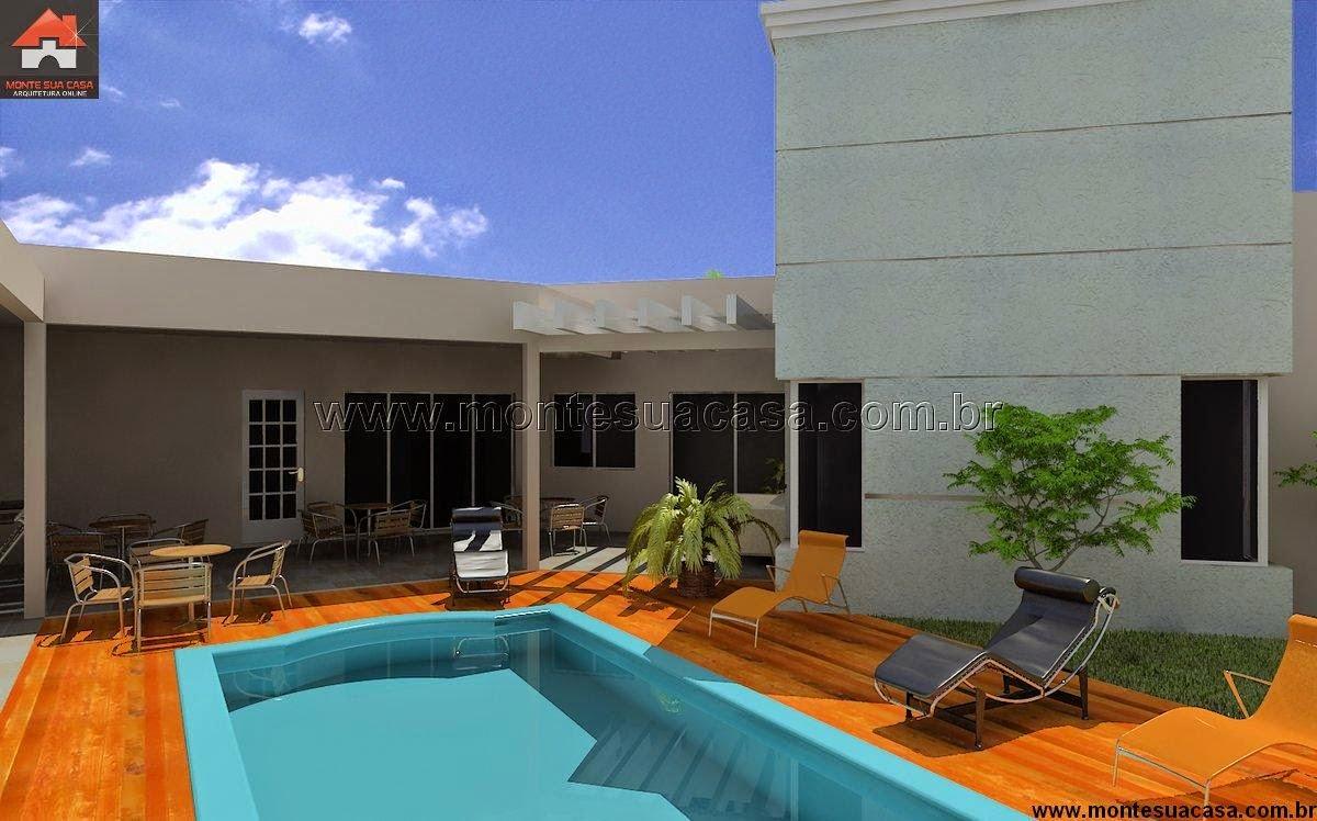 Projeto de casa t rrea de 200 m for Sala de 9 metros quadrados