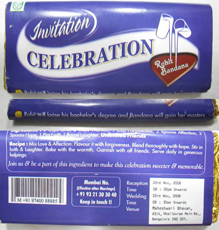 dairy milk invitation