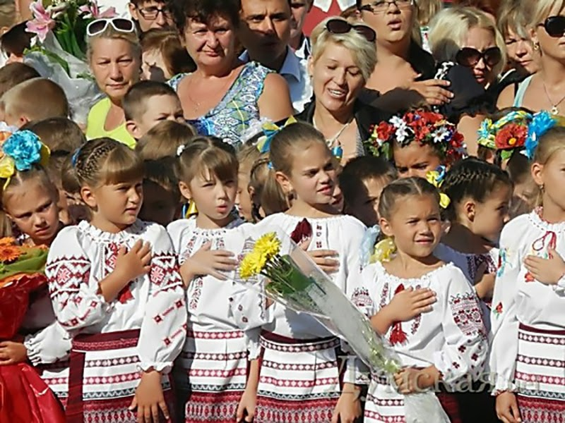 Classes reopened in schools around Ukraine as the educational year have just started, except schools on the territories, seized by DPR and LPR terrorists.