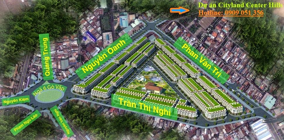 Tổng thể dự án Cityland Center Hills