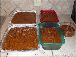 trays of moose meat chili