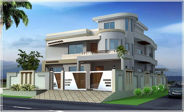 , 10 marla , 5 marla Plan, Beautiful Front elevation of Home Design