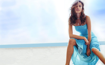 Alessandra Ambrosio Blue Dress