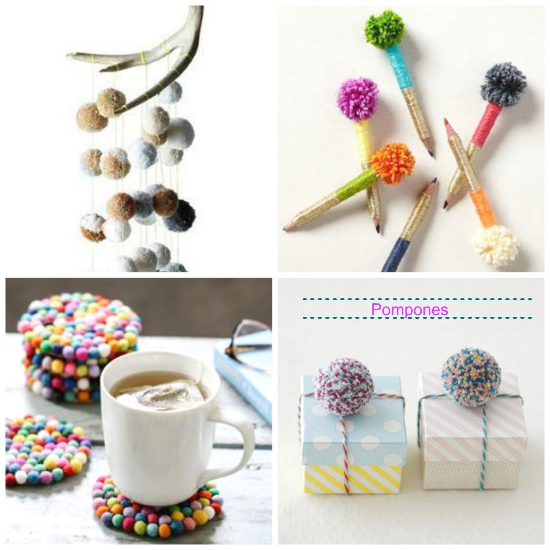 Ideas pompones de lana la taza de loza - Para hacer pompones de lana ...