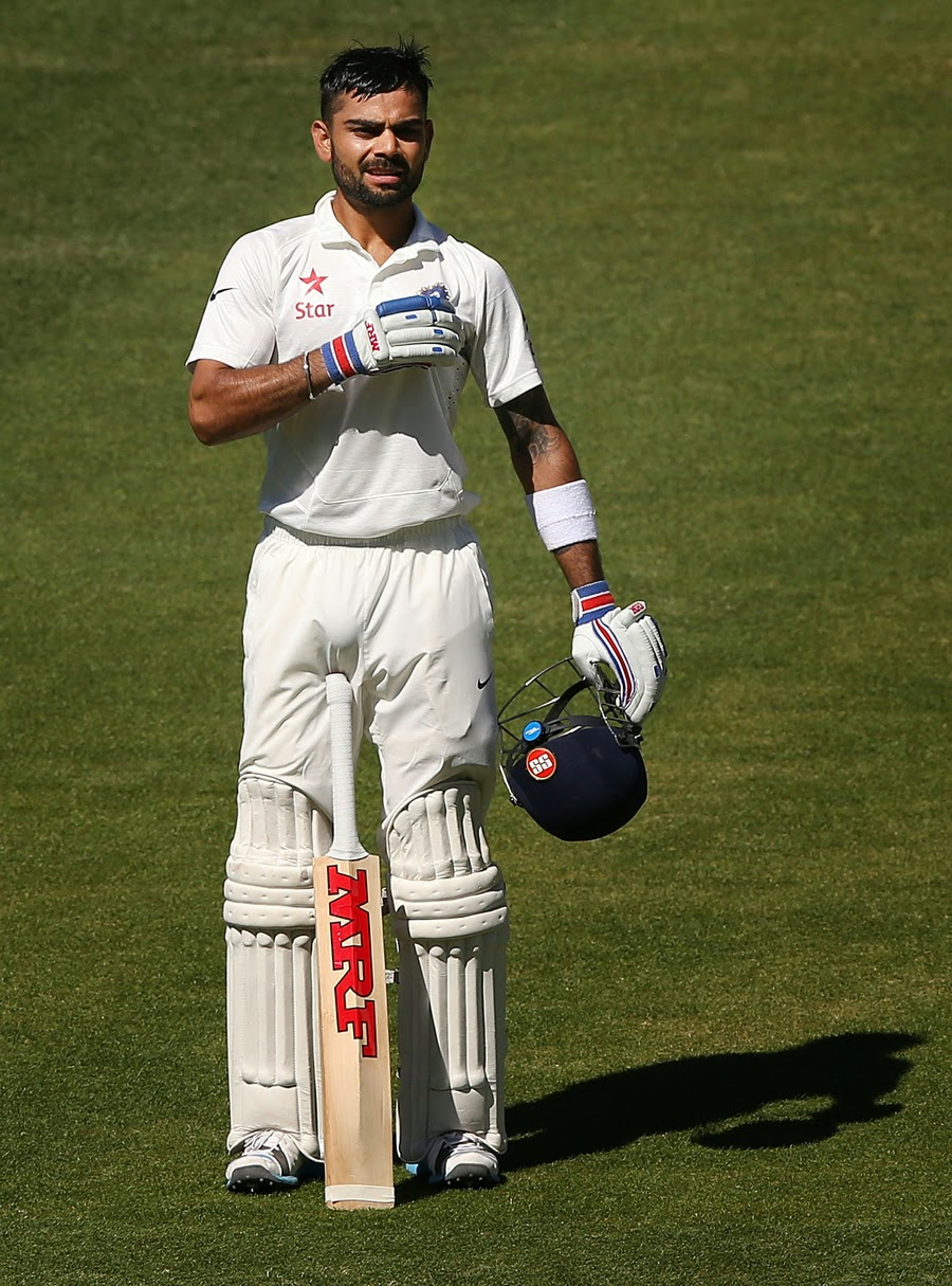 Virat-Kohli-twin-centuries-on-debut-as-captain-Australia-v-India-1st-Test-2014