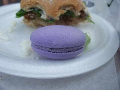 black currant macaron from Bakery Lorraine