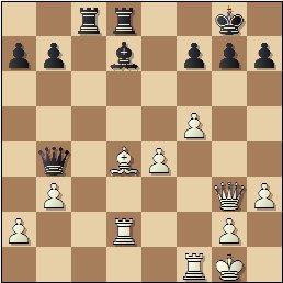 Partida de ajedrez Romero vs. Hernando, Zaragoza 1949, posición después de 23.Dg3