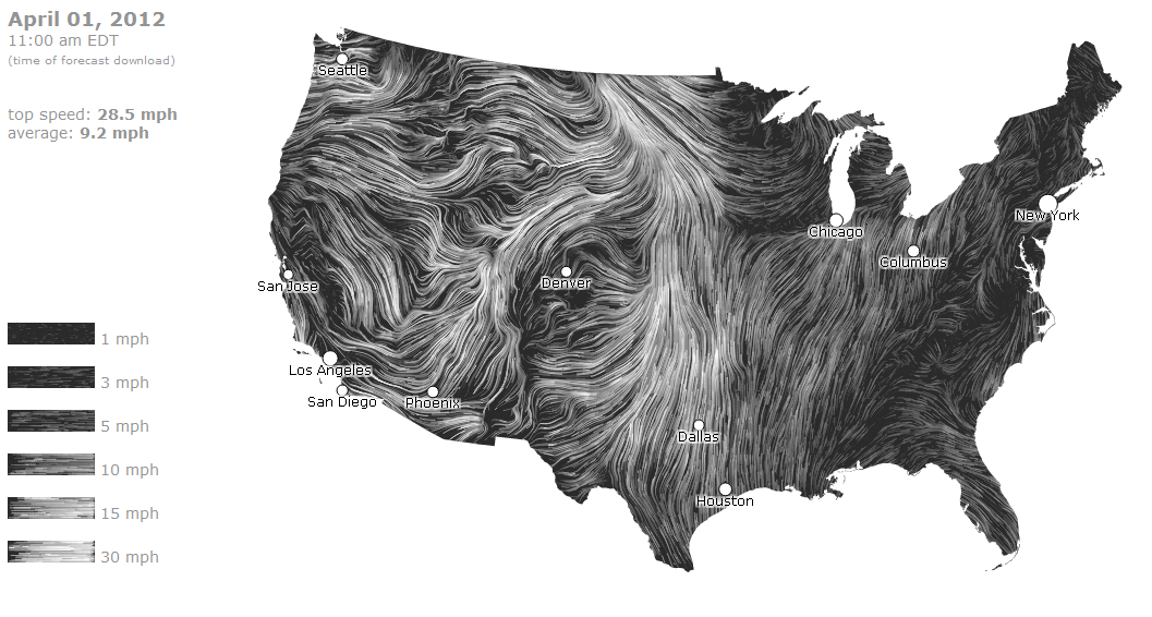 Us Wind Map Real Time Globalinterco - Us wind speed map