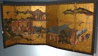 Japanese Screen Private Collection Gloucester, Massachusetts