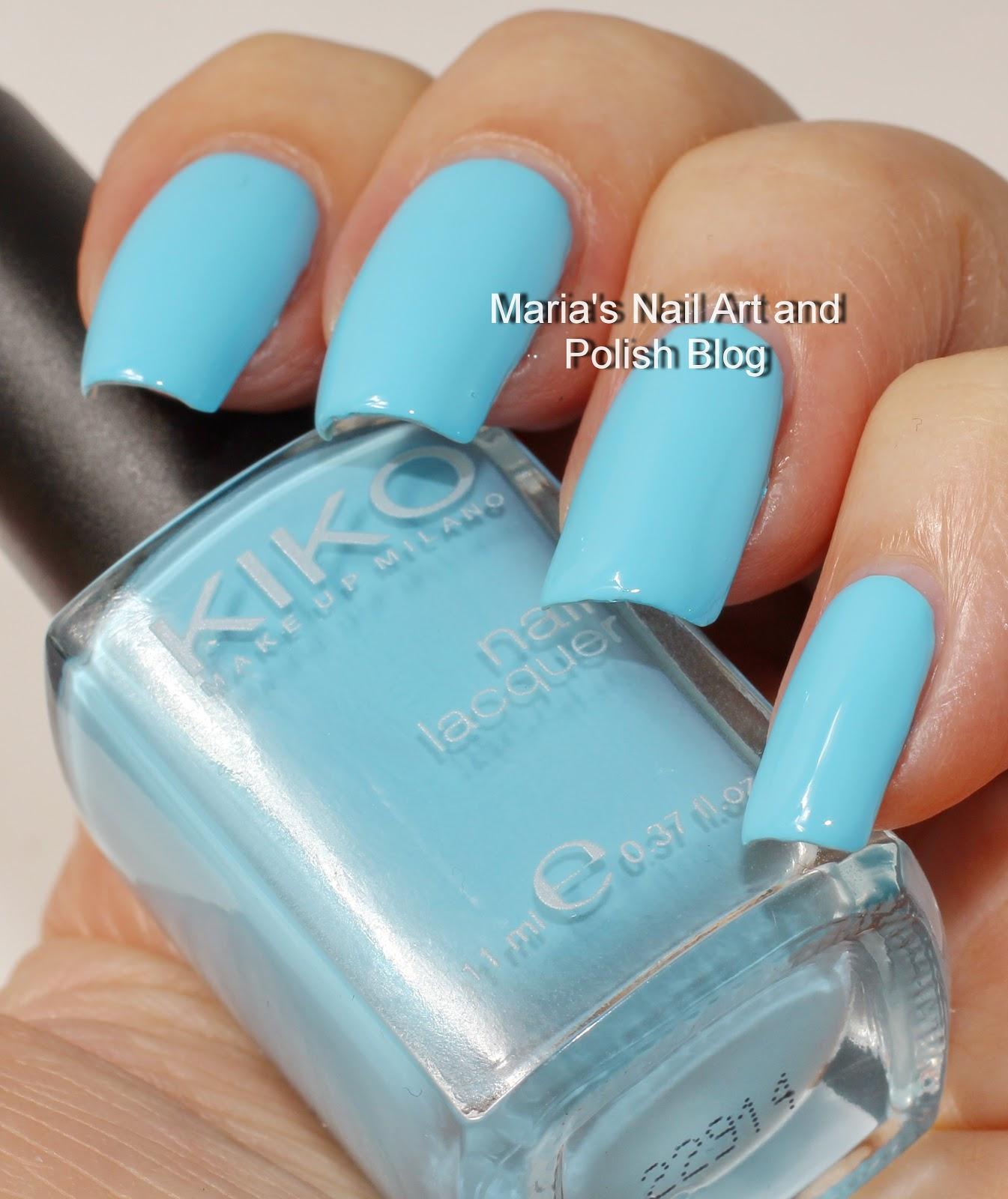 Pink And Blue Nail Polish: Marias Nail Art And Polish Blog: Kiko 340 Light Blue And