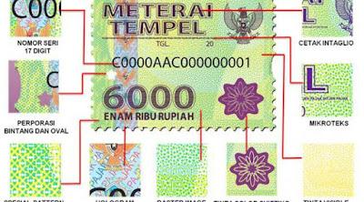 Jual Materai 6000 Baru