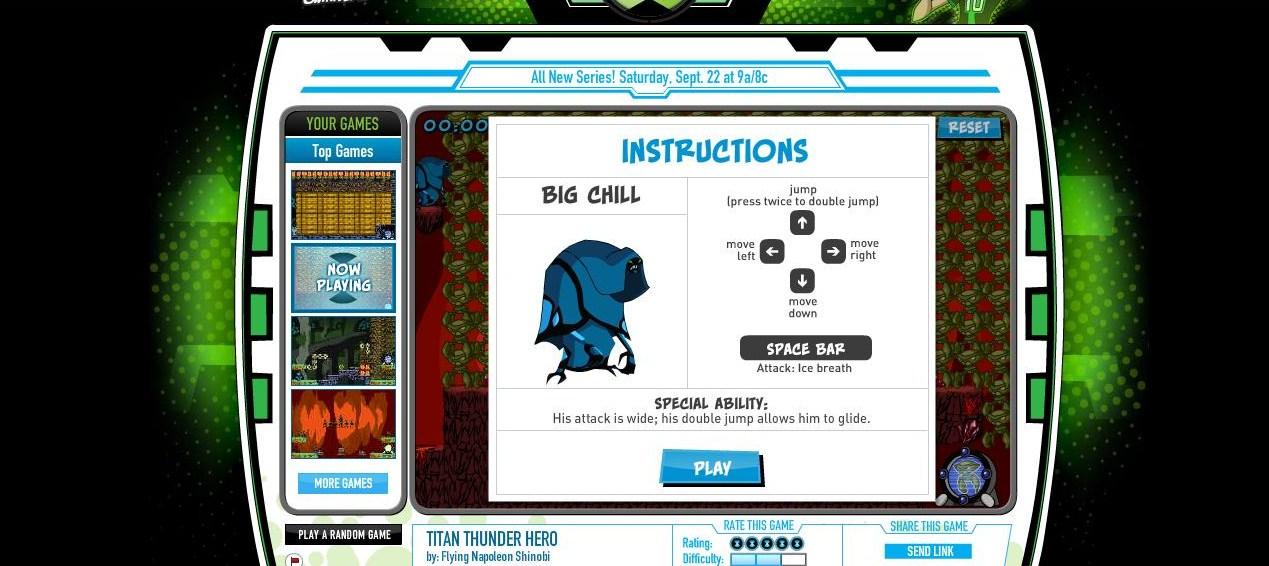 ben 10 game creator game free