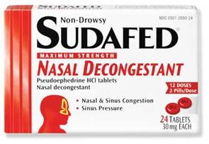 sudafed mucus cough medicine