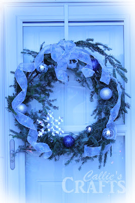 Christmas wreath from tree cuttings