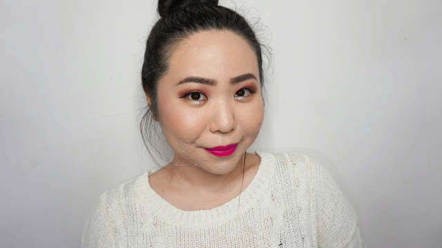 summer makeup must have from the saem indonesia. eco soul kiss button lips matte #m02, eco soul waterproof eyebrow #01, saemmul single shadow #14 evil red, aqua fix jelly eyeshadow #02, Review, They are all amazingly high pigmented with colors, vibrant and bold result on the face (which i need for my clients) and they are colorful yet natural!