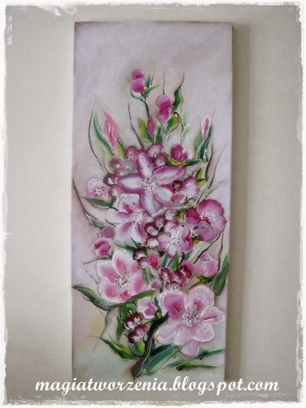 Magia Tworzenia Obraz Akrylowy Kwiat Jabłoni