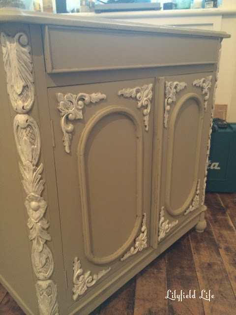 before and after; hand painted French cabinet by Lilyfield Life