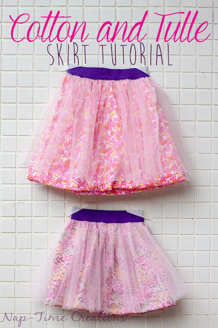 Sewing Tutorial for elastic band cotton Tulle skirt