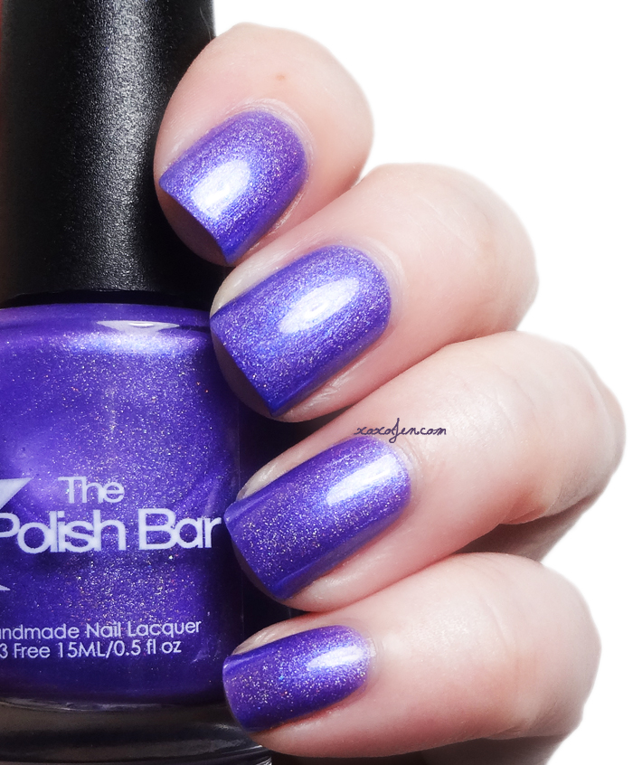 xoxoJen's swatch of The Polish Bar Purple Mist