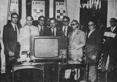 """Entrega de premios en el V Trofeo de Ajedrez """"Dicen..."""" en 1971"""