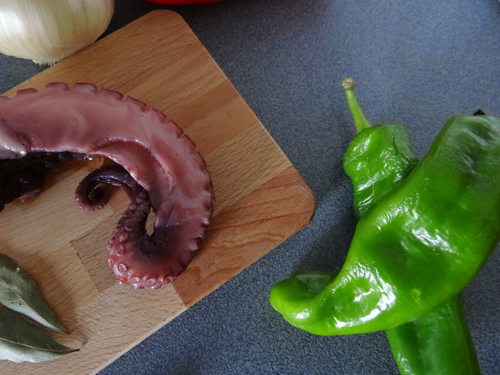 Ingredientes del pulpo a la mugardesa