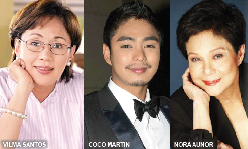 Vilma Santos, Coco martin and Nora Aunor Movie by Brillante Mendoza