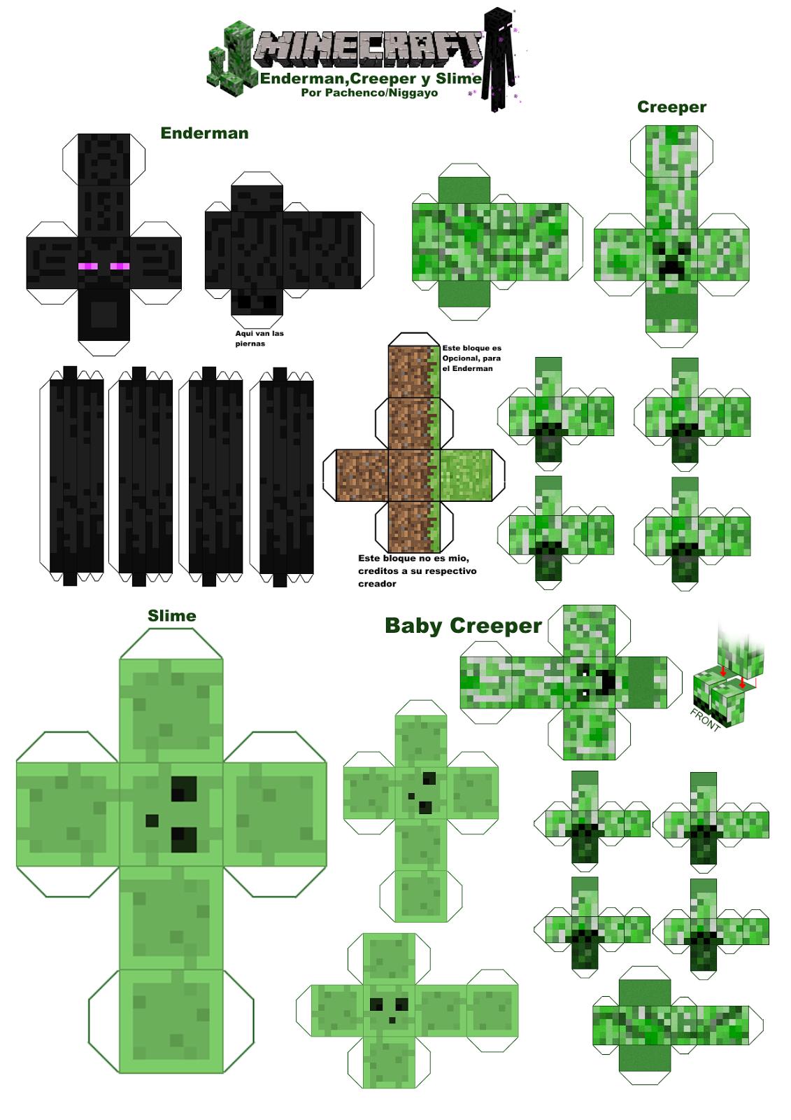 Paper Craft Mexico Minecraft Papercraft