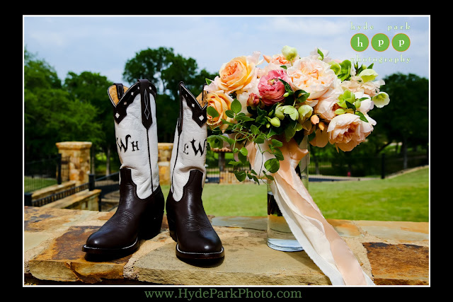 Custom boots at Escondido Golf Club wedding by The Fairy Godmothers Weddings & Events