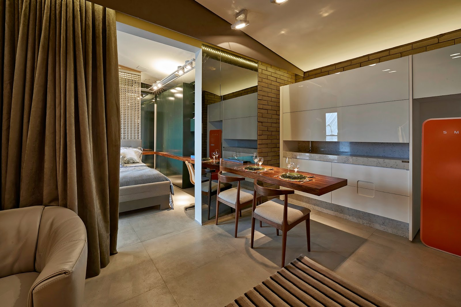 Dena interiores : loft casa cor mg