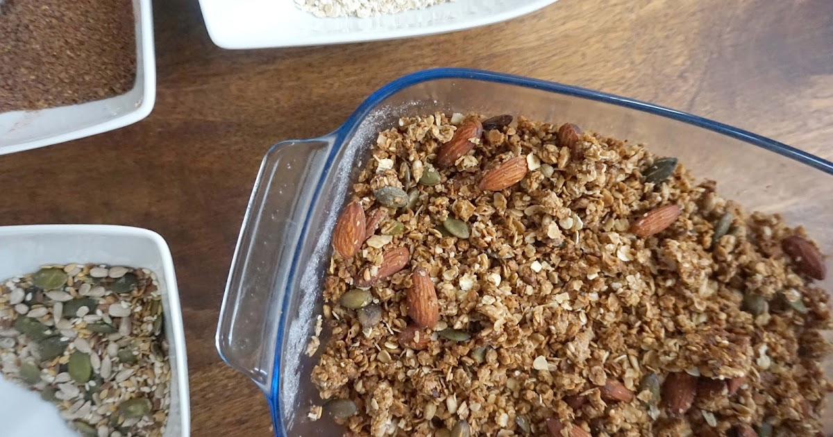 Healthy Vanilla Coconut & Cinnamon Granola Recipe | Smock To Frock