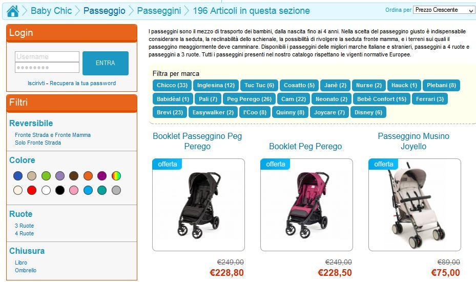 babychicstore.it il miglior sito per lo shopping di prodotti per l'infanzia e giocattoli