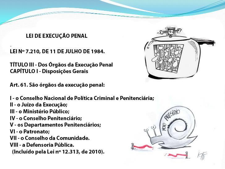 ÓRGÃOS DA EXECUÇÃO PENAL
