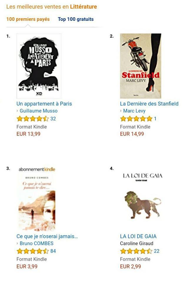 La Loi de Gaia, 4ème meilleure vente d'Amazon
