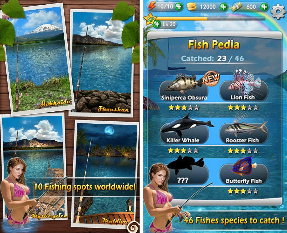 Fishing mania 3d apk mod v1 7 offline unlimited money for Wsbtv fish and game