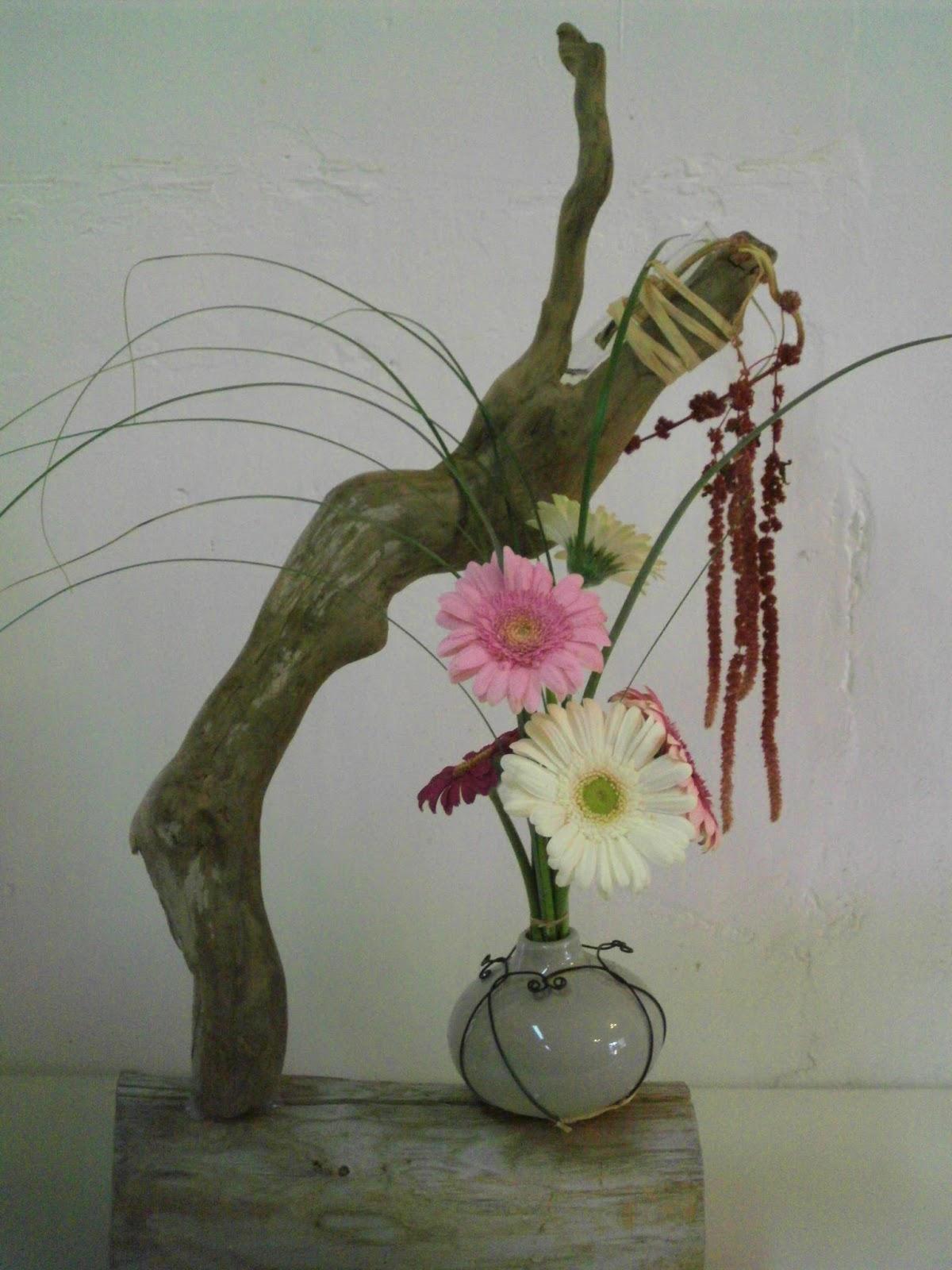 Fleurs plantes etc for Bouquet bois flotte