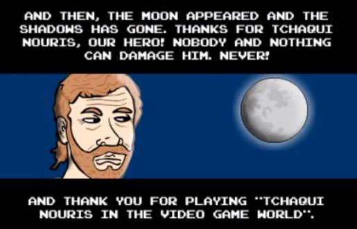 chuck norris em o jogo mais facil do mundo